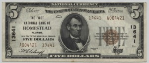 1929 Type 2 $5 Note Charter #13641