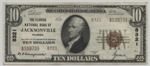 1929 Type 2 $10 Note Signed Wakefield, Cash. and Avent, Pres.  Charter #8321