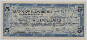 1933 Bank of Newberry $5