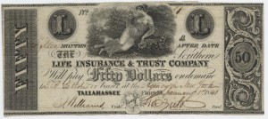 1841 $50 A Plate Note