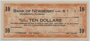 1933 Bank of Newberry $10