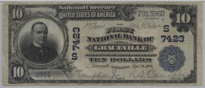 1902 Plain Back $10 Note Charter #7423