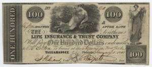 1841 $100 A Plate Note