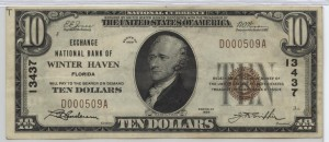 1929 Type 1 $10 Note Charter #13437