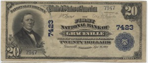 1902 Plain Back $20 Note Charter #7423