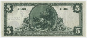 1902 Date Back $5 Note Signed Hendley, Cash. and Heard, Pres. Charter #S10136