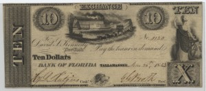 1843 $10 Note