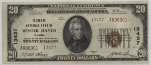 1929 Type 2 $20 Note Charter #13437