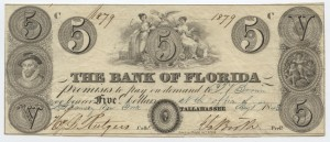 1843 $5 Note