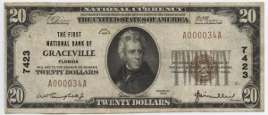 1929 Type 1 $20 Note Charter #7423