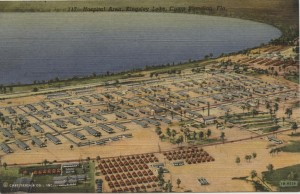 Camp Blanding Aerial View Post Card