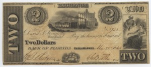 1843 $2 Note