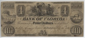 1843 $4 Note