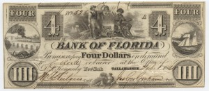1844 $4 Note