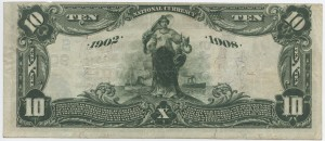 1902 Date Back $10 Note Signed McQuaid, Cash. and Adams, Pres. Charter #S9049
