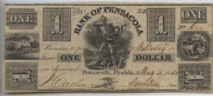 1840  $1 BB Plate Note