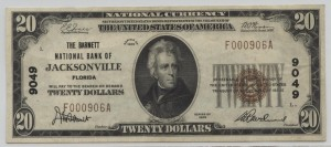 1929 Type 1 $20 Note Charter #9049