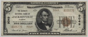 1929 Type 2 $5 Note Charter #9049