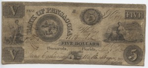 1835 $5 B Plate Note
