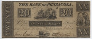 1838 $20 A Plate Note
