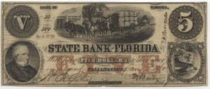 1860 $5 B Plate Note