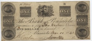 1840 $1 B Plate Note