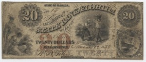 1859 $20 A Plate Note