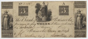 1840 $3 A Plate Note