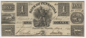 1840 $1 AA-A Plate Note