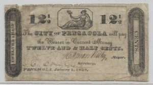 1838 12.5 Cent Note