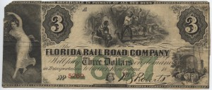 18__ $3 Note  1867 Green Overprint