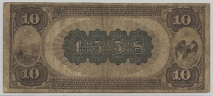 1882 Brown Back $10 Note Charter #4558