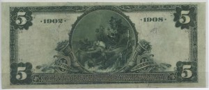 1902 Date Back $5 Note Charter #4558