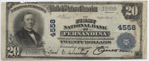 1911 Plain Back $20 Note Charter #4558