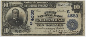 1911 Plain Back $10 Note Charter #4558
