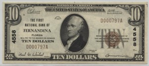 1929 Type 1 $10 Note Charter #4558
