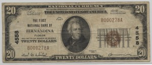 1929 Type 1 $20 Note Charter #4558