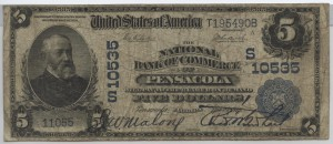 1902 Plain Back $5 Note Charter #S10535