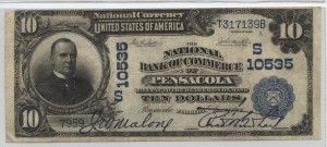 1902 Plain Back $10 Note Charter #S10535