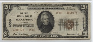 1929 Type 2 $20 Note Charter #4558
