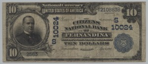 1902 Plain Back $10 Note Charter #10024