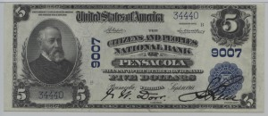 1902 Plain Back $5 Note Charter #9007