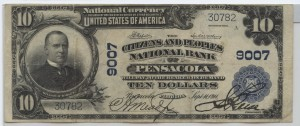1902 Plain Back $10 Note Charter #9007