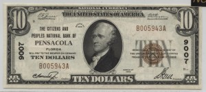 1929 Type 1 $10 Note  Charter #9007