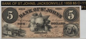 1859 $5 Note