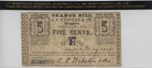 May 22, 1861 5 Cent Note Unique!