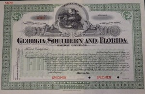 19__ Georgia Southern and Florida Railway Company. Specimen