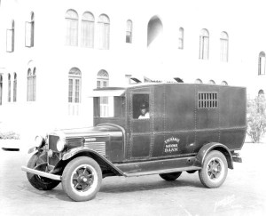 Exchange National Bank of Tampa Armored bank truck