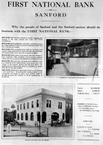 FIRST NATIONAL BANK OF SANFORD