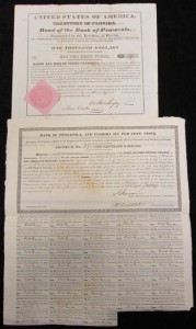 Territory of Florida Bond of the Bank of Pensacola. One Thousand Dollars, Six Cents Per Stock.